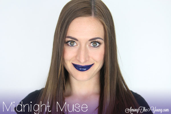 Lipsense Colors featured by top US lifestyle blog and Lipsense distributor, Kaylynn of Among the Young: image of Kaylynn wearing Midnight Muse
