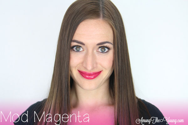 Lipsense Colors featured by top US lifestyle blog and Lipsense distributor, Kaylynn of Among the Young: image of Kaylynn wearing Mod Magenta