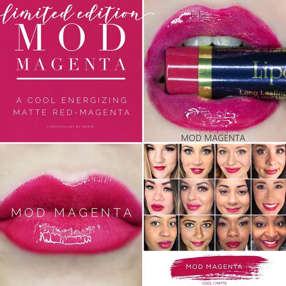 Lipsense Colors featured by top US lifestyle blog and Lipsense distributor, Kaylynn of Among the Young: image of Mod Magenta