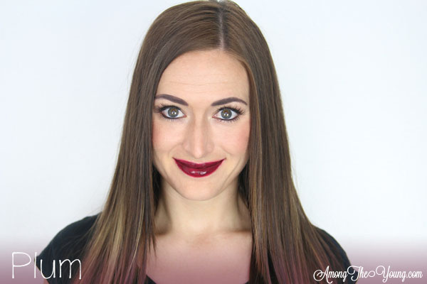 Lipsense Colors featured by top US lifestyle blog and Lipsense distributor, Kaylynn of Among the Young: image of Kaylynn wearing Plum
