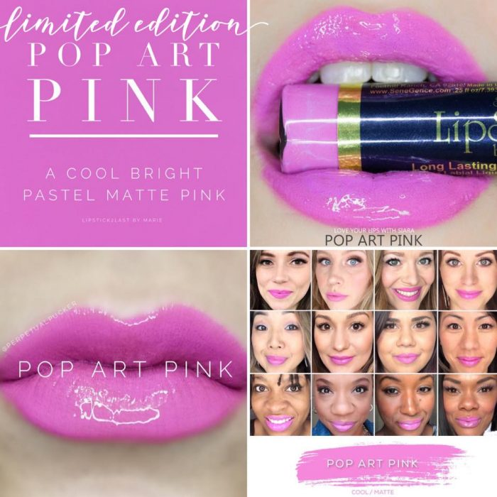 Lipsense Colors featured by top US lifestyle blog and Lipsense distributor, Kaylynn of Among the Young: image of Pop Art Pink