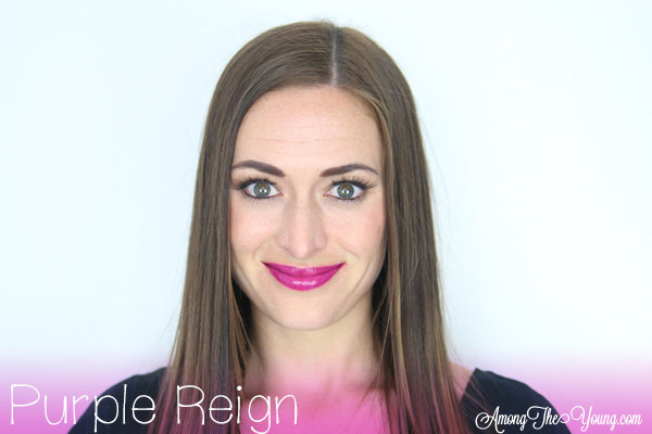 Lipsense Colors featured by top US lifestyle blog and Lipsense distributor, Kaylynn of Among the Young: image of Kaylynn wearing Purple Reign