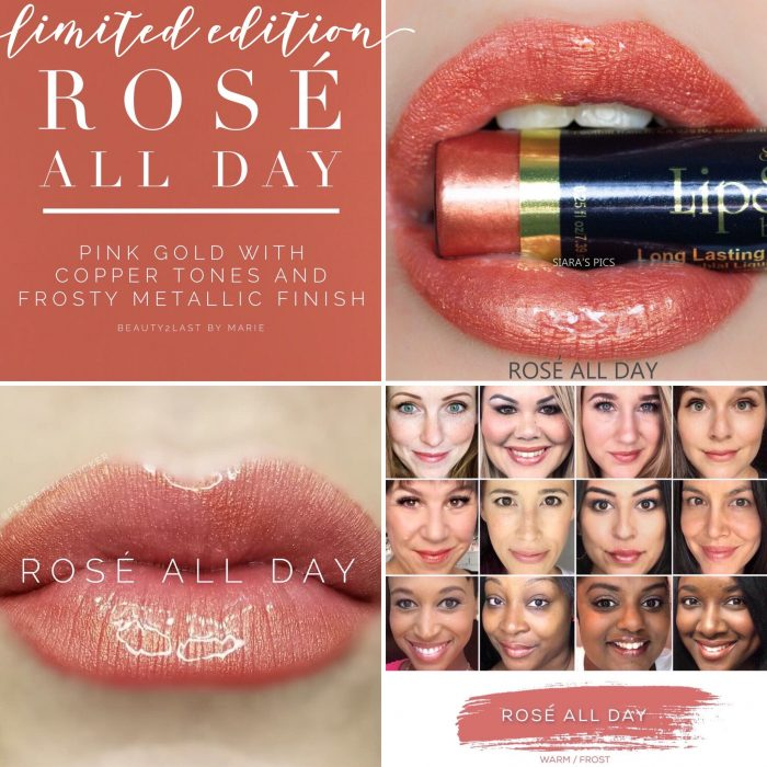 Lipsense Colors featured by top US lifestyle blog and Lipsense distributor, Kaylynn of Among the Young: image of Rose All Day