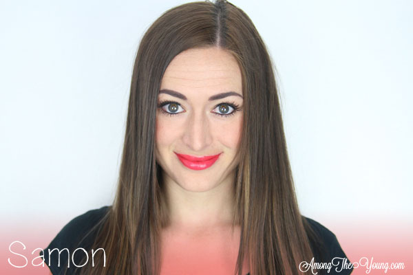 Lipsense Colors featured by top US lifestyle blog and Lipsense distributor, Kaylynn of Among the Young: image of Kaylynn wearing Samon