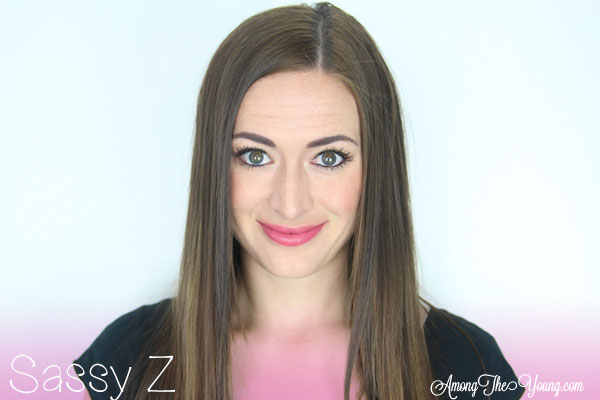 Lipsense Colors featured by top US lifestyle blog and Lipsense distributor, Kaylynn of Among the Young: image of Kaylynn wearing Sassy Z