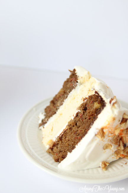 Carrot cake cheesecake featured by top Utah Foodie blog, Among the Young: image of carrot cake | The Ultimate Carrot Cake Cheesecake Cake Recipe by popular US food blog, Among the Youngs: image of carrot cake cheesecake.