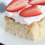 The most delicious tres leches cake featured by top Utah Foodie blog, Among the Young: image of tres leches close up