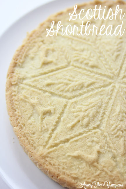 The Best Scottish Shortbread recipe featured by top Utah Foodie Among the Young: image of Scottish shortbread recipe whole | Traditional Scottish Shortbread Recipe for the Holidays by popular Utah food blog, Among the Young; image of Scottish shortbread.