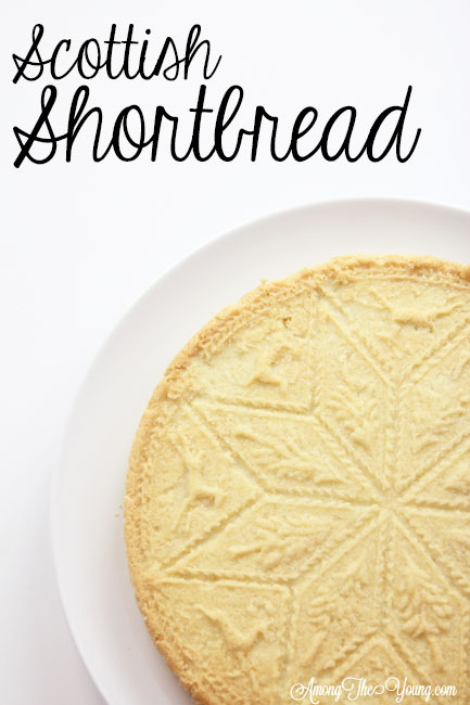 The Best Scottish Shortbread recipe featured by top Utah Foodie Among the Young: image of Scottish shortbread recipe PIN | Traditional Scottish Shortbread Recipe for the Holidays by popular Utah food blog, Among the Young; image of Scottish shortbread.