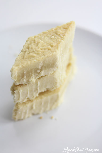 The Best Scottish Shortbread recipe featured by top Utah Foodie Among the Young: image of scottish shortbread recipe staked and lined up   Traditional Scottish Shortbread Recipe for the Holidays by popular Utah food blog, Among the Young; image of Scottish shortbread.