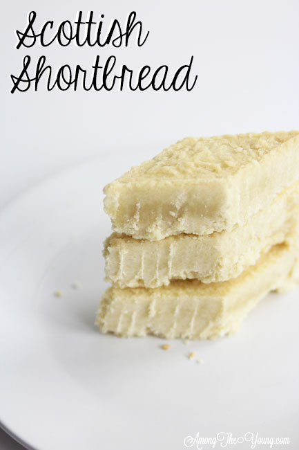 The Best Scottish Shortbread recipe featured by top Utah Foodie Among the Young: image of scottish shortbread recipe PIN 2 | Traditional Scottish Shortbread Recipe for the Holidays by popular Utah food blog, Among the Young; image of Scottish shortbread.