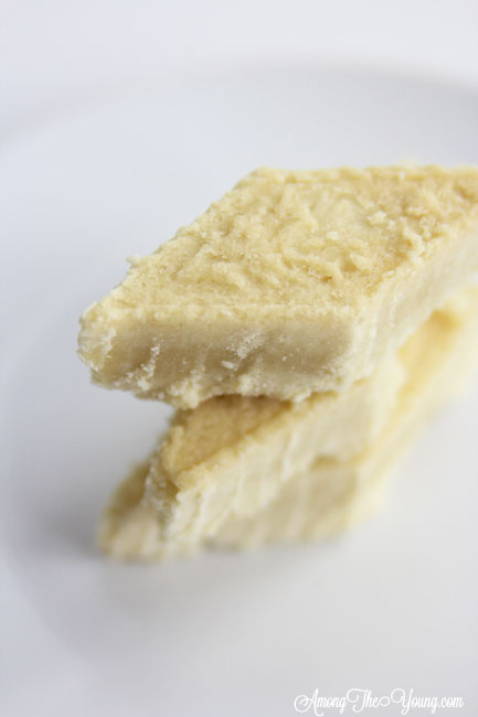 The Best Scottish Shortbread recipe featured by top Utah Foodie Among the Young: image of scottish shortbread recipe from above stacked | Traditional Scottish Shortbread Recipe for the Holidays by popular Utah food blog, Among the Young; image of Scottish shortbread.