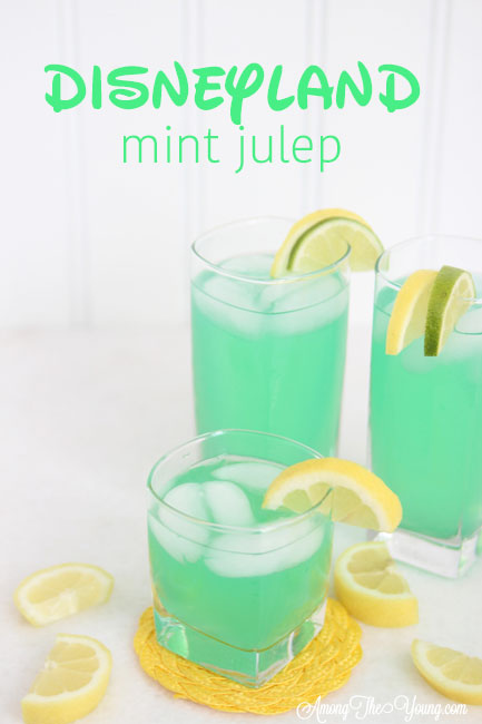 "alt=""The best Disneyland Mint Julep copycat recipe featured by top Utah Foodie blog, Among the Young: image of Mint Julep PIN 