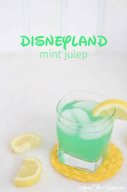 "alt=""The best Disneyland Mint Julep copycat recipe featured by top Utah Foodie blog, Among the Young: image of one Mint Julep PIN 