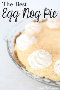 The Best Egg Nog Pie recipe featured by top Utah Foodie blog, Among the Young: image of Egg Nog Pie Recipe Pin