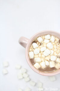 Hot chocolate recipe by top Utah Foodie Among the Young: image of cocoa from above