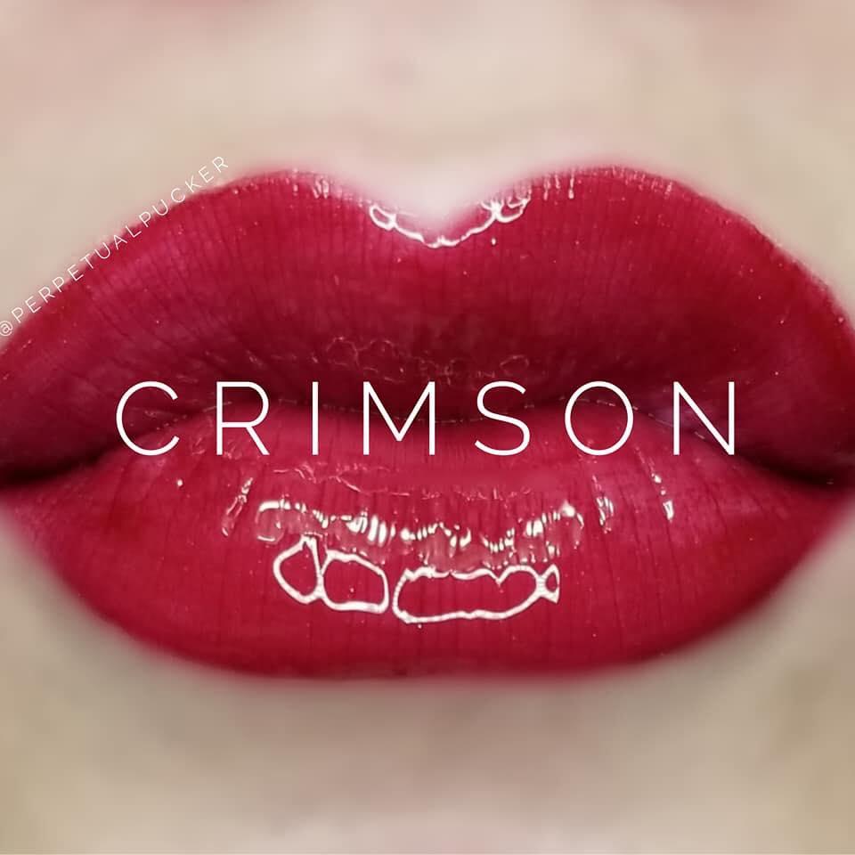 Red Lipsense : image of Crimson Red |Red Lipsense by popular Utah lifestyle blog, Among the Young: Pinterest image of Lipsense crimson.