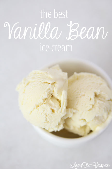 The Best vanilla bean ice cream featured by top Utah Foodie blog Among the Young: image of Vanilla Bean Pin 3