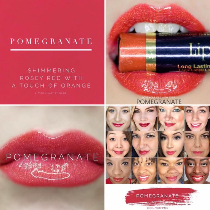 The best summer Lipsense colors featured by top Utah Lifestyle blog Among the Young: image of Pomegranate   Lipsense Colors by popular Utah beauty blog, Among the Young: Pinterest image of Pomegranate lipsense.