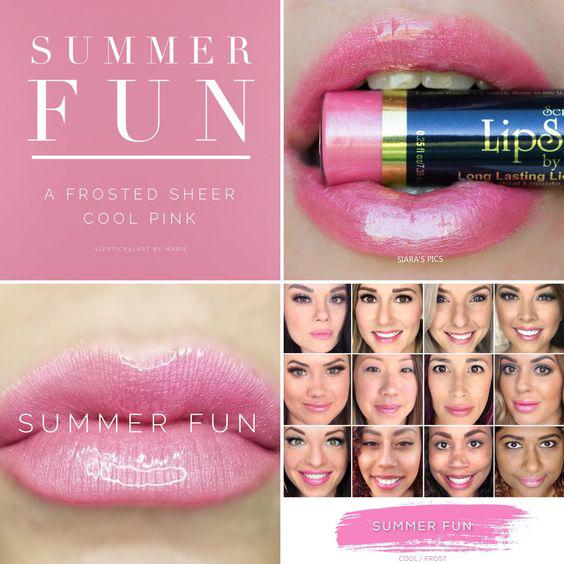 The best summer Lipsense colors featured by top Utah Lifestyle blog Among the Young: image of Summer Fun   Lipsense Colors by popular Utah beauty blog, Among the Young: Pinterest image of Summer Fun lipsense.